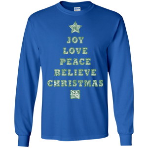 JOY Christmas Quilt LS Ultra Cotton T-Shirt