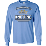 I Am Happiest When I'm Knitting Long Sleeve Ultra Cotton T-Shirt - Crafter4Life - 9