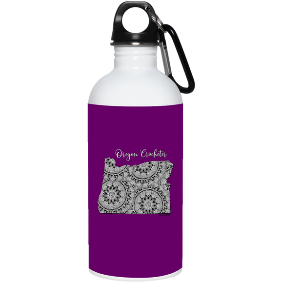 Oregon Crocheter 20 oz. Stainless Steel Water Bottle