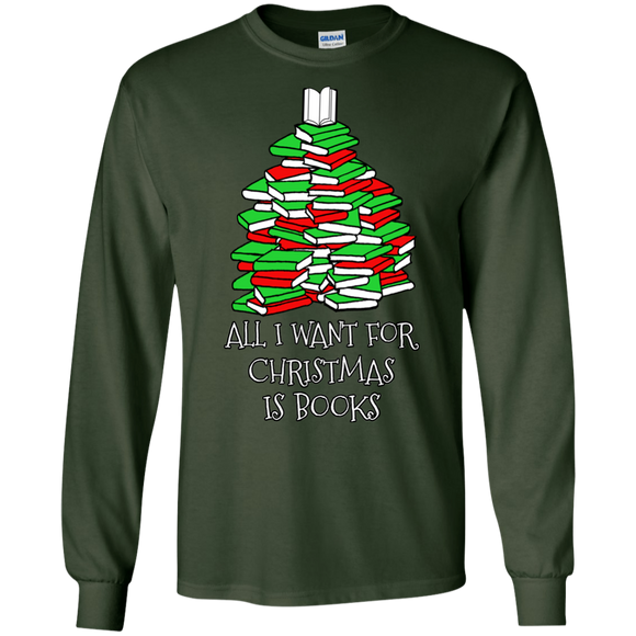 All I Want for Christmas is Books LS Ultra Cotton T-Shirt