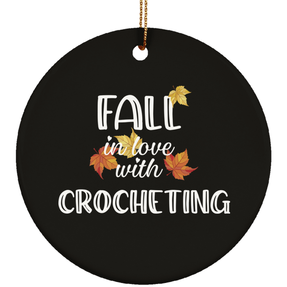 Fall in Love with Crocheting Circle Ornament