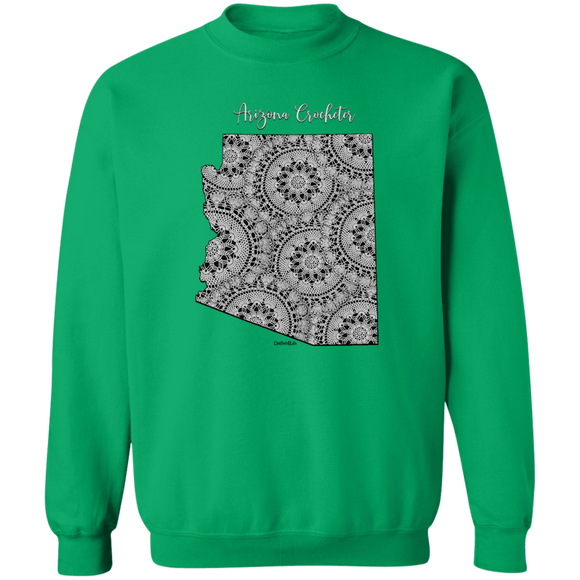 Arizona Crocheter Crewneck Pullover Sweatshirt