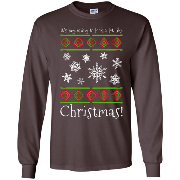 Crochet Christmas LS Ultra Cotton T-Shirt