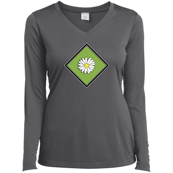 Daisy Field Ladies LS Performance V-Neck T-Shirt