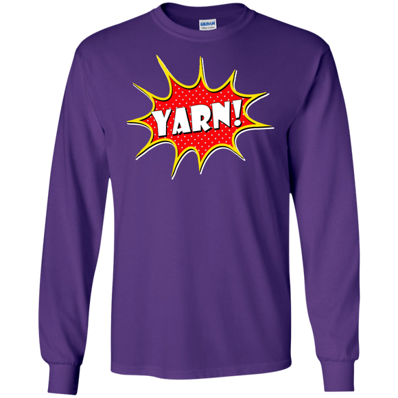 Yarn! Comic Starburst LS Ultra Cotton T-Shirt