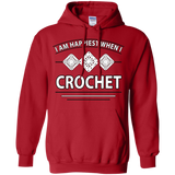 I Am Happiest When I Crochet Pullover Hoodies - Crafter4Life - 12