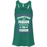 I Crochet & Knit with Passion Flowy Racerback Tank