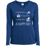 A Happy Me Ladies Long Sleeve V-neck Tee - Crafter4Life - 8
