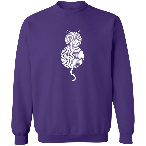Yarn Kitty Crewneck Pullover Sweatshirt