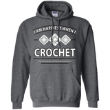 I Am Happiest When I Crochet Pullover Hoodies - Crafter4Life - 5