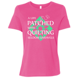Quilting Seldom Unravels Ladies' Relaxed Jersey Short-Sleeve T-Shirt