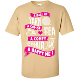 A Ball of Yarn, A Happy Me Custom Ultra Cotton T-Shirt - Crafter4Life - 3
