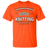 I Am Happiest When I'm Knitting Custom Ultra Cotton T-Shirt - Crafter4Life - 9