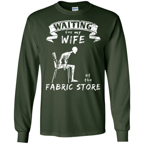 Waiting at the Fabric Store Long Sleeve T-Shirts - Crafter4Life - 1