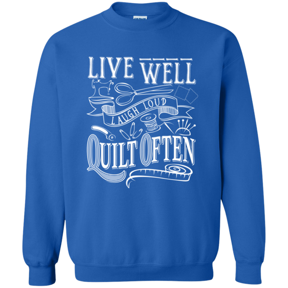 Quilt Often Crewneck Pullover Sweatshirt