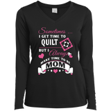 Time-Quilt-Mom Long Sleeve V-neck Tee - Crafter4Life - 1
