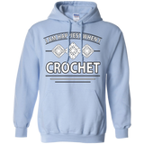 I Am Happiest When I Crochet Pullover Hoodies - Crafter4Life - 4
