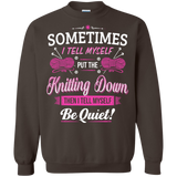 Put the Knitting Down Crewneck Sweatshirts - Crafter4Life - 6