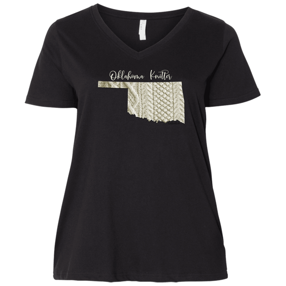 Oklahoma Knitter Ladies Curvy Full-Figure T-Shirts