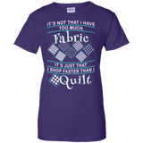 I Shop Faster than I Quilt Ladies Custom 100% Cotton T-Shirt - Crafter4Life - 9