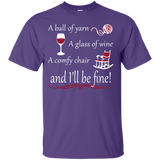 A Ball of Yarn a Glass of Wine Men's and Unisex T-Shirts - Crafter4Life - 8