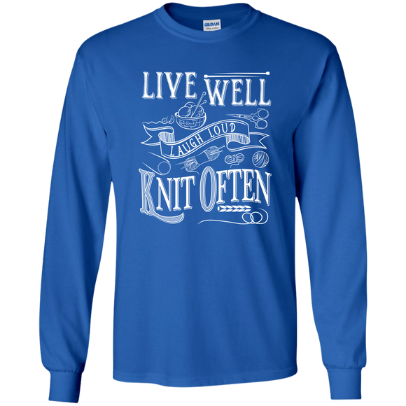 Live Well Knit Often LS Ultra Cotton T-Shirt