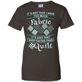 I Shop Faster than I Quilt Ladies Custom 100% Cotton T-Shirt - Crafter4Life - 4