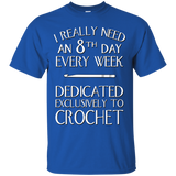 8th Day Crochet Custom Ultra Cotton T-Shirt - Crafter4Life - 10