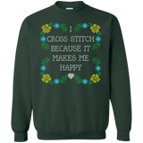 I Cross Stitch Because It Makes Me Happy Crewneck Sweatshirts - Crafter4Life - 5