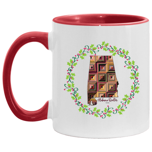 Alabama Quilter Christmas Accent Mug