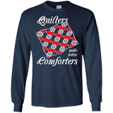Quilters Make Better Comforters Long Sleeve Ultra Cotton T-Shirt - Crafter4Life - 8