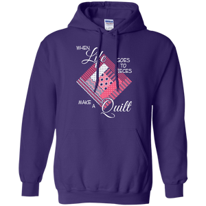 Make a Quilt (pink) Pullover Hoodies - Crafter4Life - 1