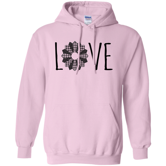 LOVE Quilt Pullover Hoodie