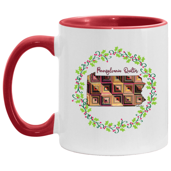Pennsylvania Quilter Christmas Accent Mug