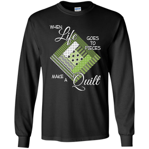Make a Quilt (Greenery) LS Ultra Cotton T-Shirt