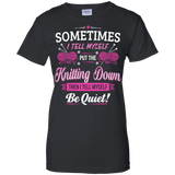 Put the Knitting Down Ladies Custom 100% Cotton T-Shirt - Crafter4Life - 2