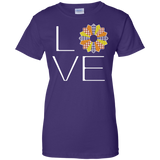 LOVE Quilting (Fall Colors) Ladies Custom 100% Cotton T-Shirt - Crafter4Life - 10