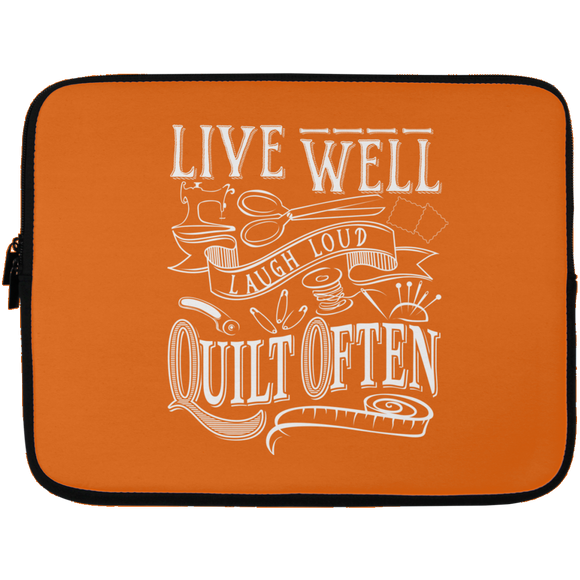 Live Well, Quilt Often Laptop Sleeves