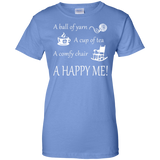 A Happy Me Ladies Custom 100% Cotton T-Shirt - Crafter4Life - 6