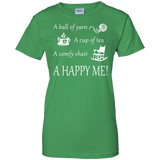 A Happy Me Ladies Custom 100% Cotton T-Shirt - Crafter4Life - 8