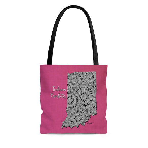 Indiana Crocheter Cloth Tote Bag