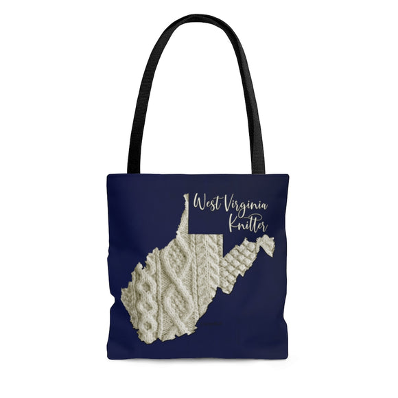 West Virginia Knitter Cloth Tote Bag