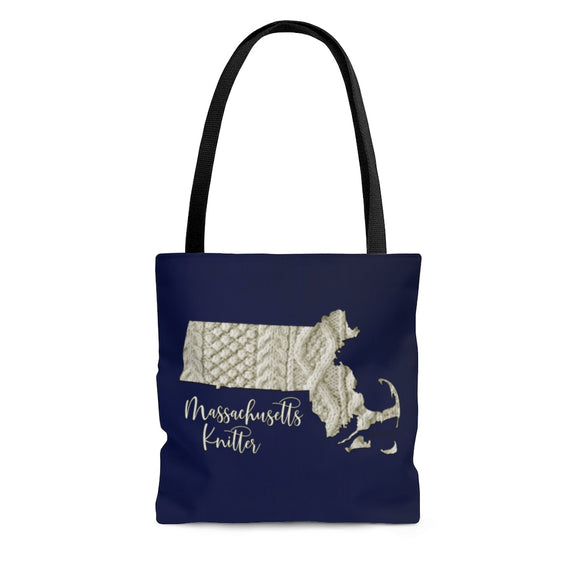 Massachusetts Knitter Cloth Tote Bag