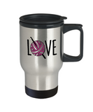 Crochet LOVE - Stainless Steel Insulated Travel Mug
