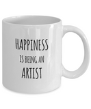 Happiness is Being an Artist - Ceramic Mugs