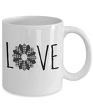 LOVE Quilt Mug 11oz ceramic