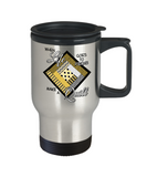 Make a Quilt Stainless Steel Insulated Travel Mug (yellow)
