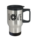 LOVE Quilt Stainless Steel Insulated Travel Mug