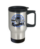 Time to Crochet Stainless Steel Insulated Travel Mug