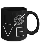LOVE Crochet Mug (black) 11 oz - Crafter4Life - 2